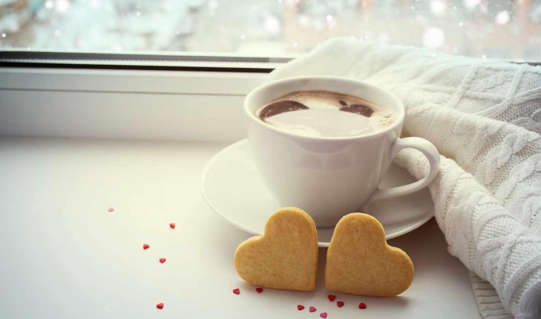 coffee, love, день, valentine, cup, сердце, черви,