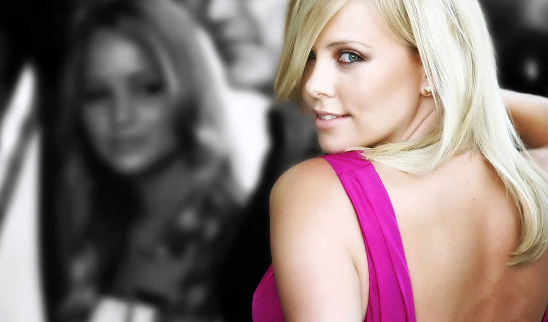 charlize, theron, актриса, взгляд, плечо, шарлиз, терон, блондинка, картинка, girls, кнопкой,