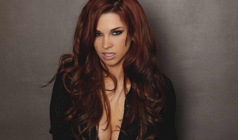 maree, sabrina, девушка, лицо, рыжая, грудь, взгляд, кофта,