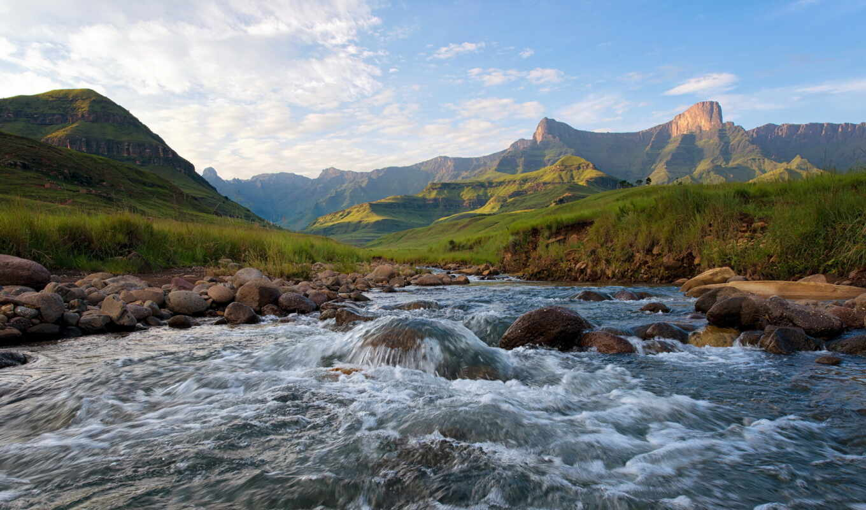 landscape, река, горы, summer, природы, пейзажи -, фотографиях,