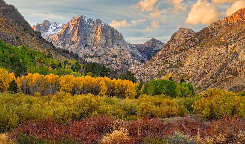 природы, autumn, mountains, images, самых, качественных, rar, обоях, великолепие, sonbahar, nature, прекрасными, облака, скалами, resimleri, уголками, над, background,