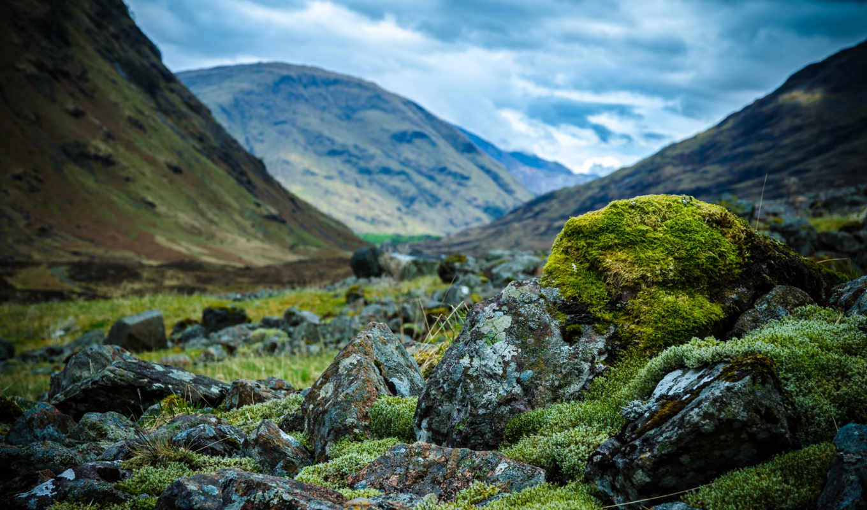 шотландия, горы, камни,