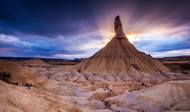 испания, park, природа, барденас, landscapes, national, реалес, rocks, закат,
