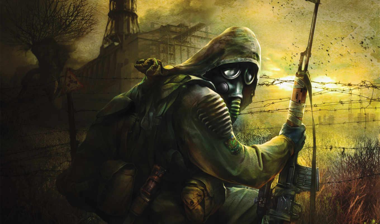 stalker, игры, маска, широкоформатные, zone, pripyat,