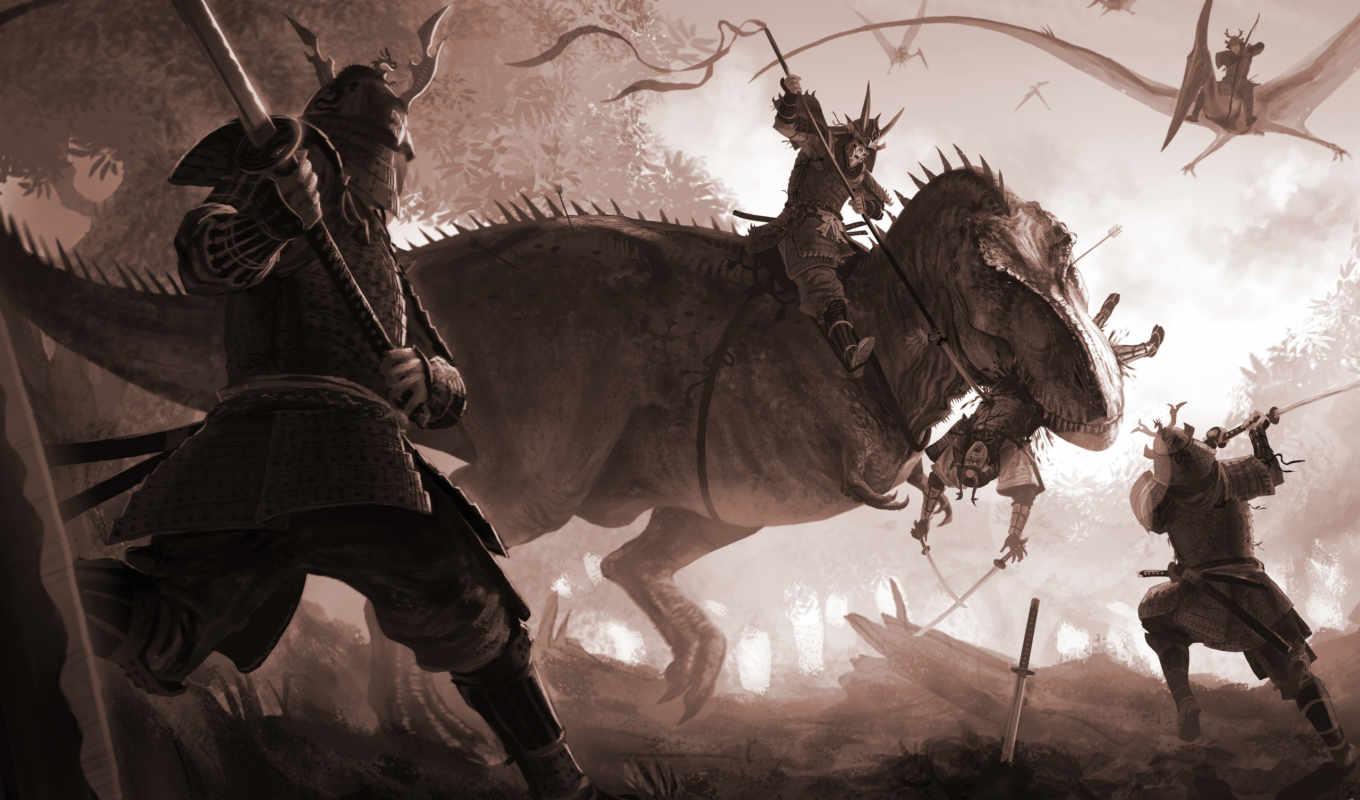 битва, меч, динозавр, ящер, птеродактиль, картинку, арт, катана, картинка, кнопкой, мыши, так, же, поделиться, левой, салатовую, кномку, картинками, понравившимися, кликните,