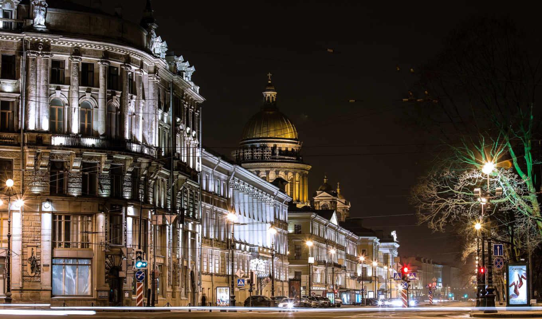 санкт, петербург, peter, россия, заставки, огни, только, daily, фонари, ночь,