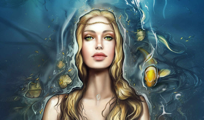 фэнтези, русалки, девушки, русалка, рыбы, девушка, world, underwater,