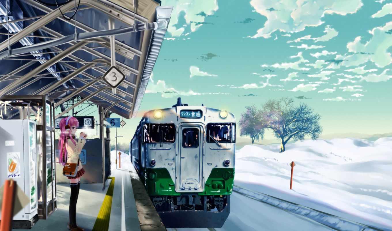 anime, winter, япония, more, поезд, pinterest, уже,