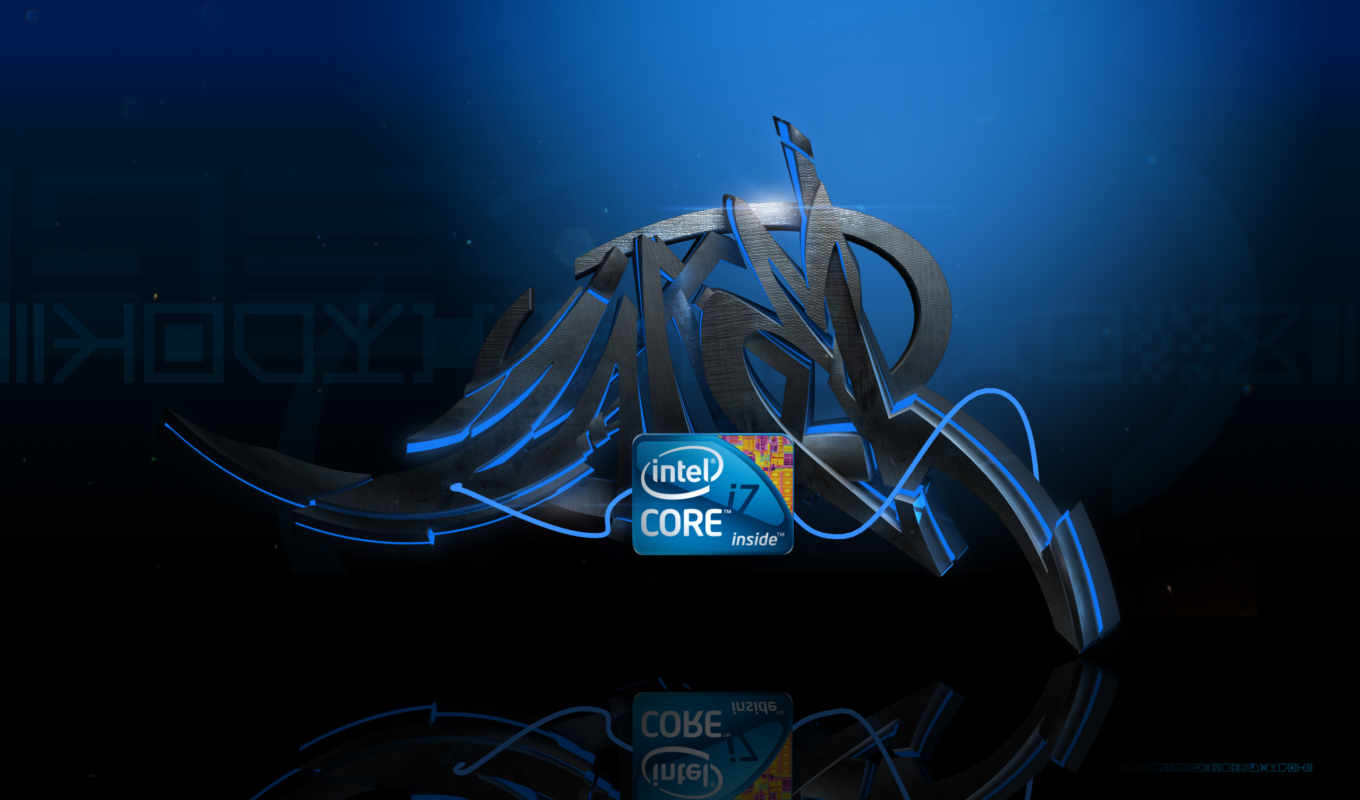 intel, core, logo, graffiti
