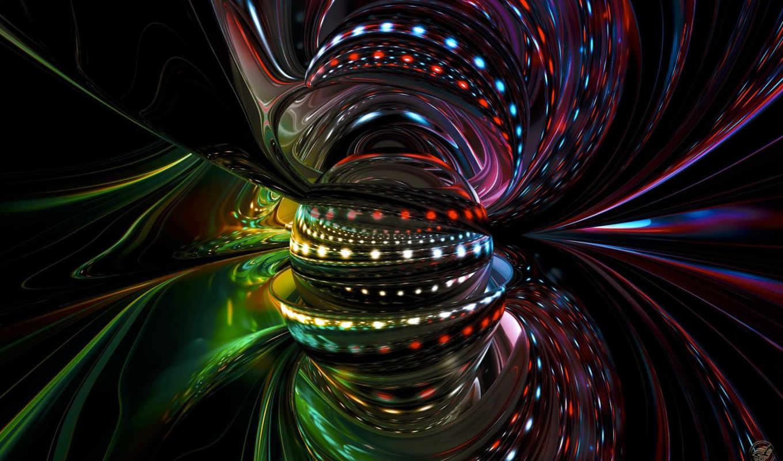 bunt, abstrakt, colorful, линии, огни, сфера,