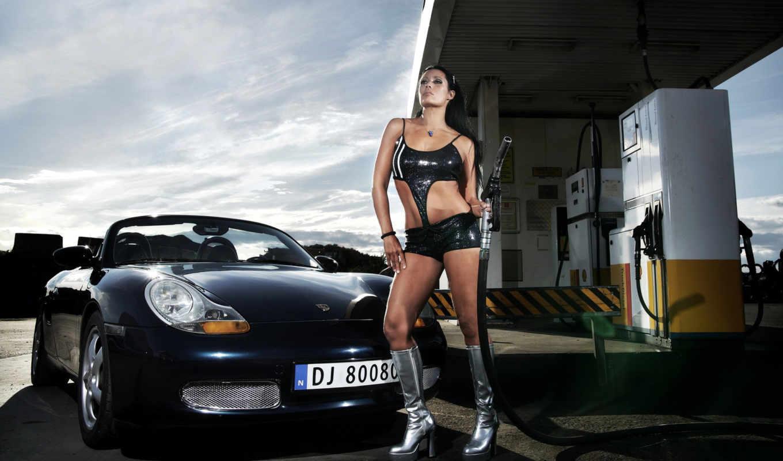 girl, car, девушки,