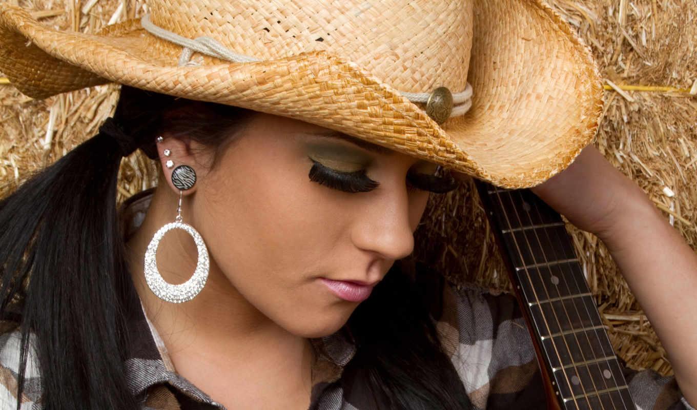 девушка, шляпе, соломенной, девушки, разных, люди, гитарой, разрешениях,