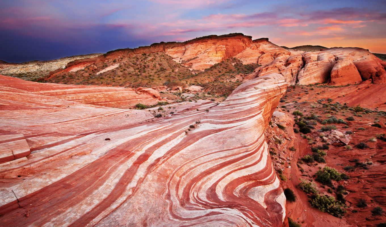 пустыня, небо, скалы, долина, park, статьи, огонь, нояб, камни, закат, state,