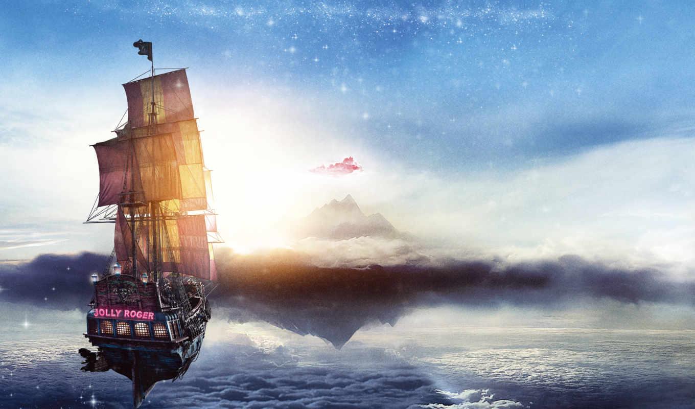pan, neverland, море, небо, shine, soul, изображение,