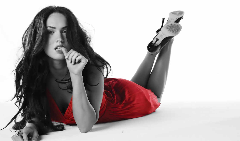 фокс, меган, babe, платье, красном, роковая,