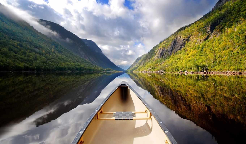 озеро, пароль, облака, фотографии,