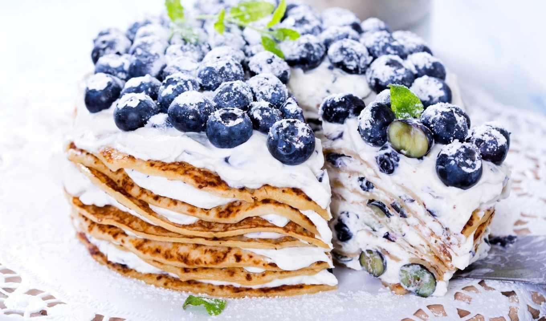торт, ягоды, черника, блинов, разных, блинчики, разрешениях, торты,