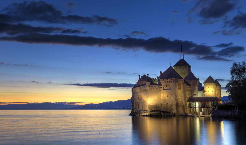 chillon, количество, chateau, мб, замки, города, картинка,