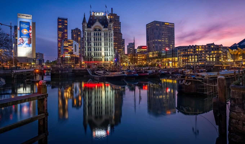 нидерланды, роттердам, witte, hui, build, порт