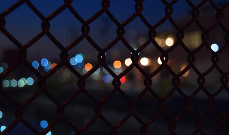 ночь, забор, flare, супер, огонь, фон, новый год