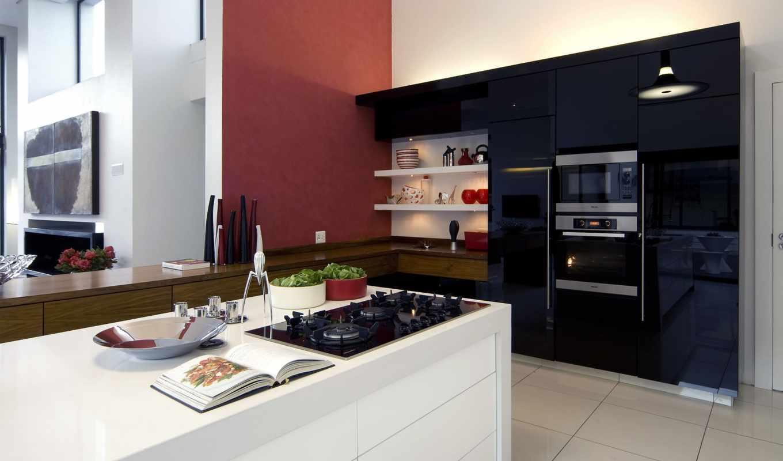 дизайн, кухня, интерьер, кухни, тек, стиль, хай, интерьера, стиле,