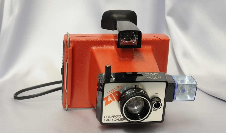 фотоаппарат, планом, крупным, фотоаппарат, polaroid,