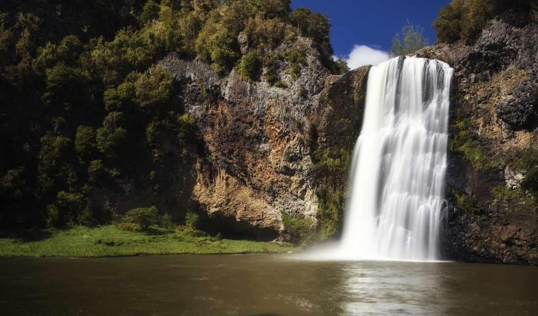 водопад, водопады, скалы, озеро, скалистый, можно, природа, широкоформатные,