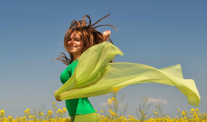 девушка, зелёный, girls, аватар, lady, шарф,