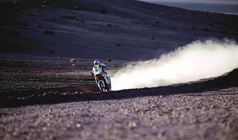 спорт, дорога, пыль, мото, пустыня, пустыни, racing, ралли, картинка,
