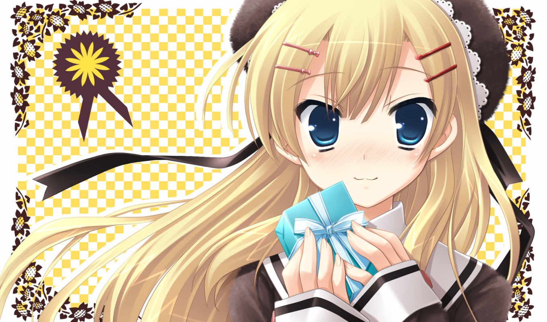 with, ribbon, minamura, airi, hair, ikegami, akane, smile, game, highres,