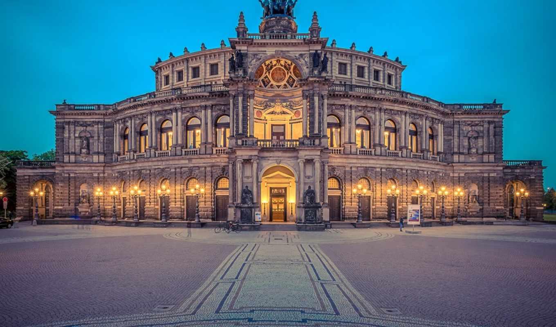 house, dresden, германия, opera, desktop, фон,