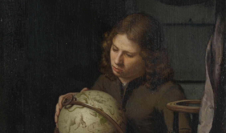 ван, deuren, olivier, portrait, астроном, молодой, картинка,