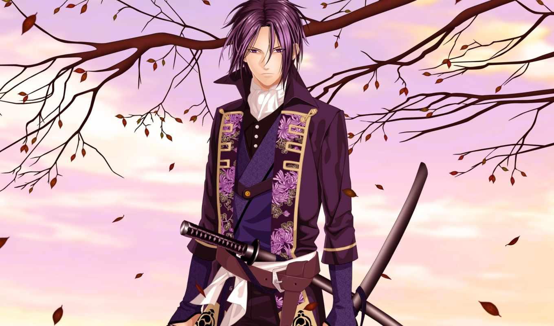 anime, сакуры, сказание, демонах, хиджиката, тошиджо, toshizou, hakuouki, shinsengumi,