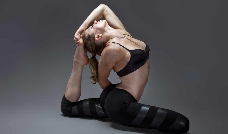 гимнастика, спорт, девушка,