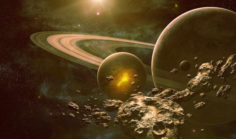 raum, космос, dream, астероиды, планеты, арт, der, von, asteroids, planet,