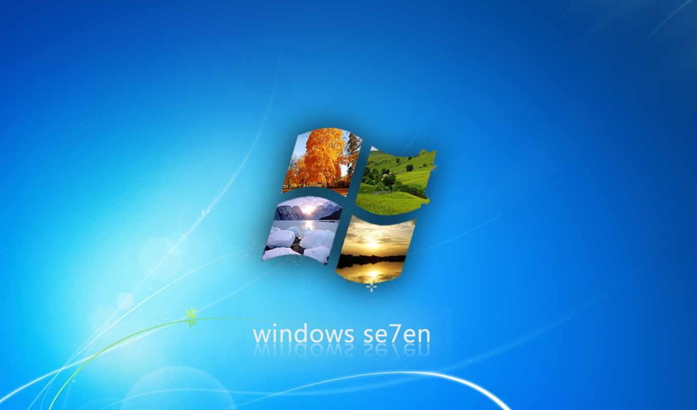 windows, se7en, wallpaper, blue, seasons