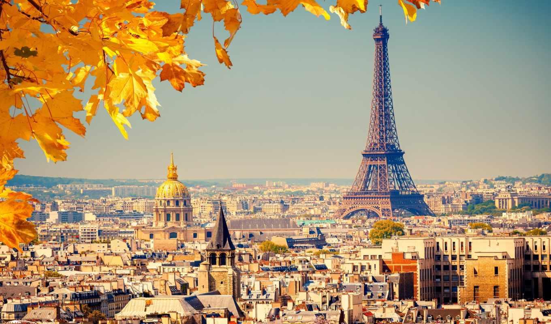 осень, париже, санкт, париж,