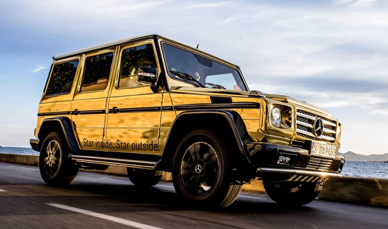mercedes, gold, gelandewagen, benz, золотистый, гелендваген, car,