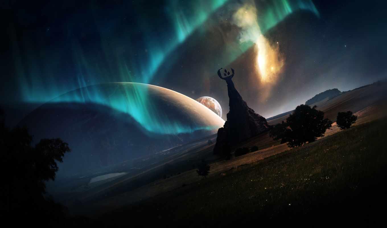aurora, planets, planet, sobre, boreal, desktop, strange, листь,