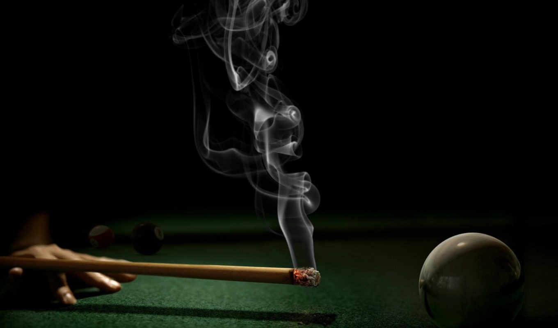 шар, бильярд, тление, дым, пепел, смотрите, hintergrundbilder, кий, computer, iphone, абстрактные, рука, картинку,