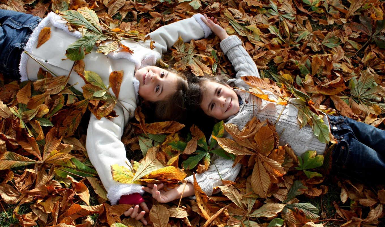 выпуск, девочки, заставки, осень, листва, мальчики,