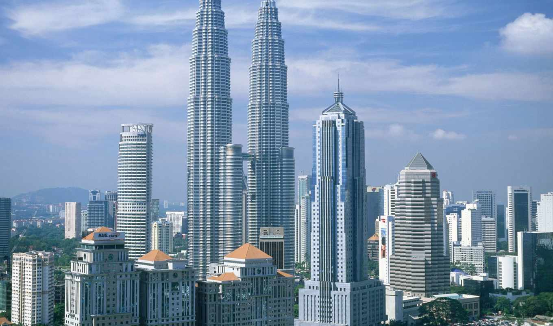 malaysia, kuala, малайзии, lumpur, architecture, flowers, towers,