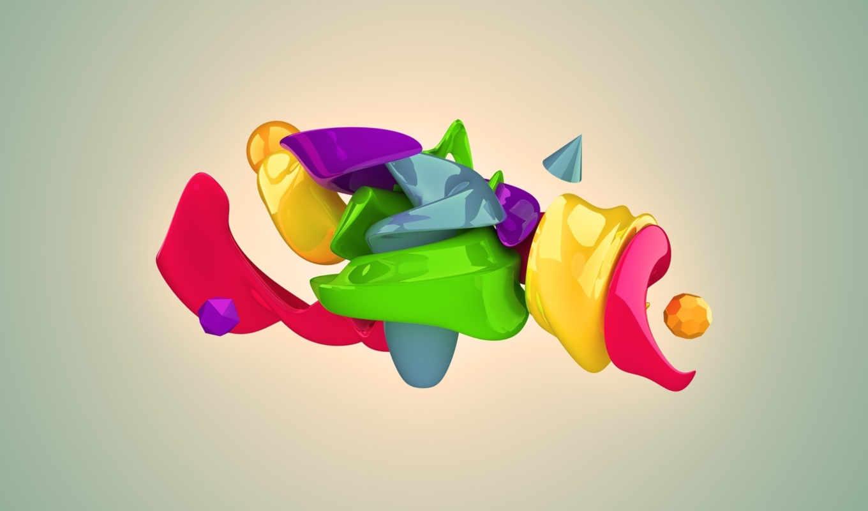 фигуры, краски, узоры, абстракция, patterns, colors, графикой, трехмерной, фона,