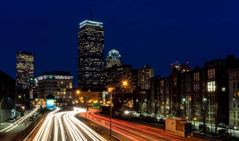 boston, traffic, город, urban, school, ночь, драйв, transportation