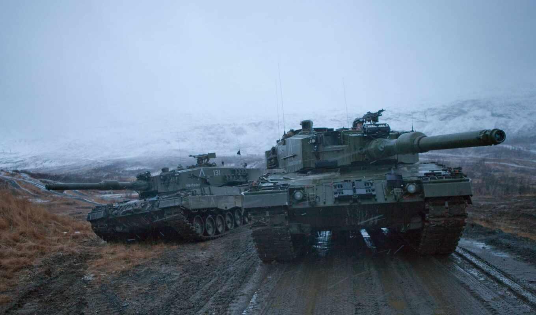 леопард, танк, world, военный, армия, norwegian, норвегия, трава, битва