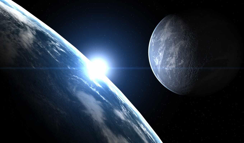 космос, луна, спутник, планета, земля, звезда, картинка,