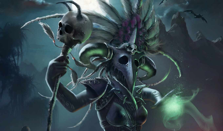 witch, доктор, diablo, iii, reaper, souls, art, ugrai, andreia,