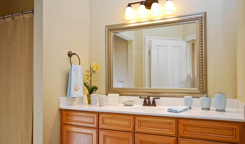 ванной, зеркало, комнате, ванную, зеркала, комнаты,