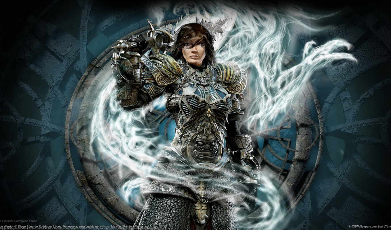 воин, девушка, дракон, доспех, warrior,