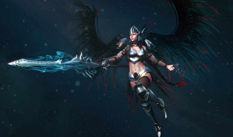девушка, armour, меч, доспех, воительница, доспехах, weapons, воин,